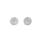 Zen Circles Diamond Stud Earrings Silver - MAS Designs