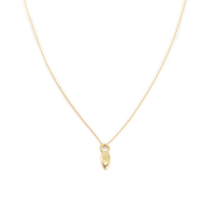 Hope Drop Charm Necklace 18k Solid Gold - MAS Designs