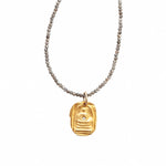 One of a Kind Gold Quiet Buddha Labradorite Long Necklace 20001