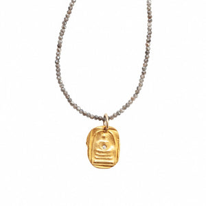 Quiet Buddha Charm Necklace Gold - MAS Designs