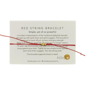 Red String Bracelet. - MAS Designs