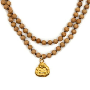 One of a Kind Sandalwood Buddha Charm Necklace 20035 - MAS Designs