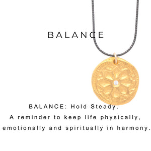 Balance Charm Necklace Charm Gold