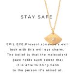 Evil Eye Protection Charm Necklace Gold