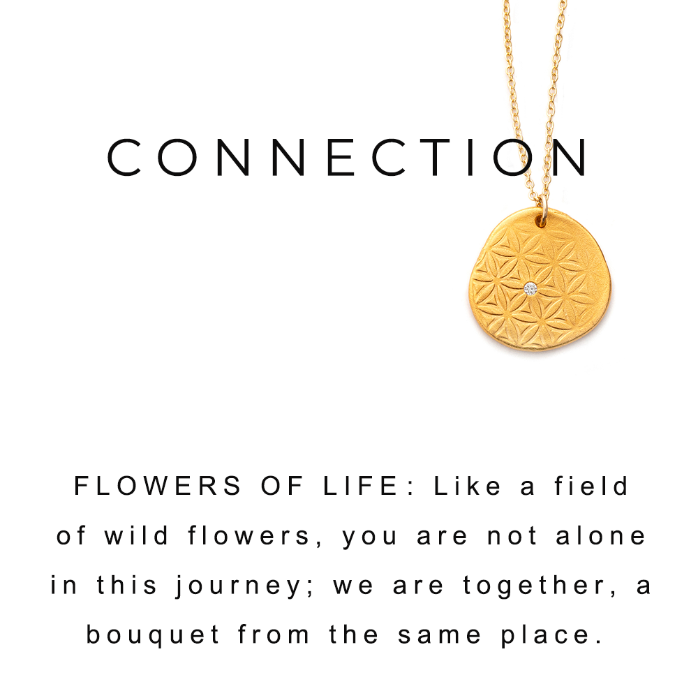 Flower of Life Charm Necklace Gold - MAS Designs