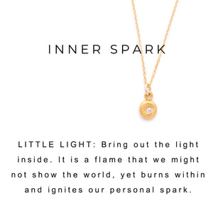 Little Lights Charm on Ruby and Gold Necklace Gold