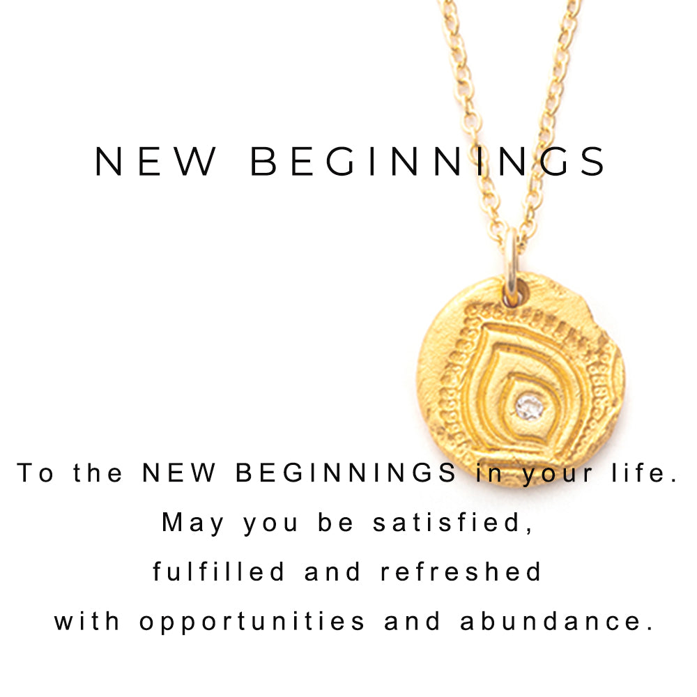 New Beginnings Charm Necklace Gold - MAS Designs