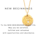 New Beginnings Charm Necklace Silver - MAS Designs