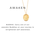 Quiet Buddha Charm Necklace Silver