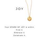 Sparks of Joy Charm Necklace Silver