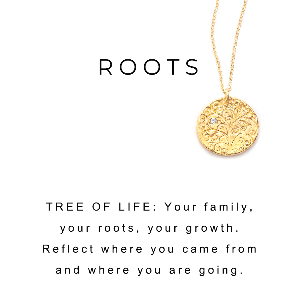 Tree of Life Charm Necklace Gold - MAS Designs