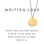 Love Charm Necklace Gold - MAS Designs