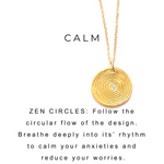 Pyrite Beaded Necklace Zen Charm Gold