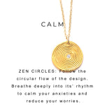 Zen Circles Charm Necklace Silver - MAS Designs