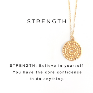 Strength Charm Necklace Gold - MAS Designs