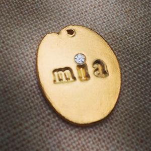 Custom Name Charm Necklace Gold - MAS Designs