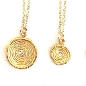 Zen Circles Charm Necklace Gold - MAS Designs