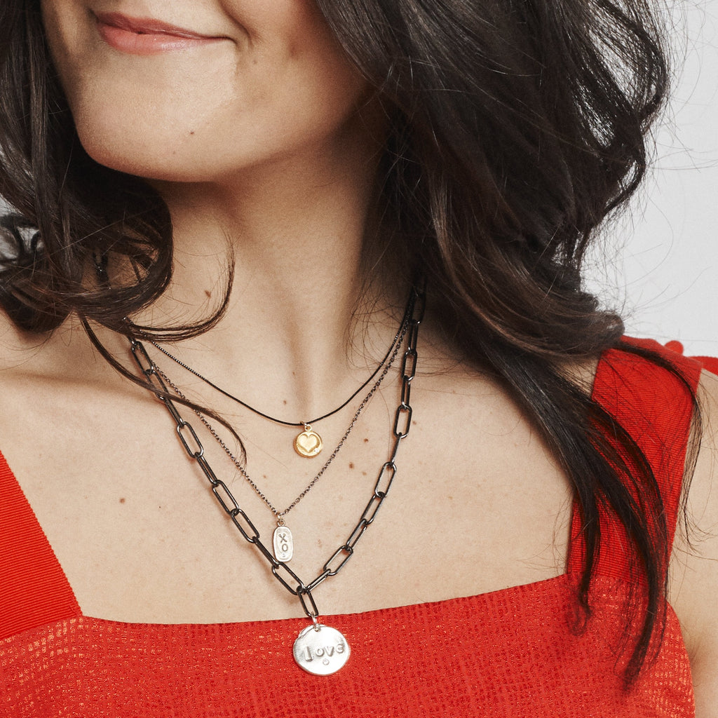 Pre-Layered Look: Three Necklaces Mixed Metal I