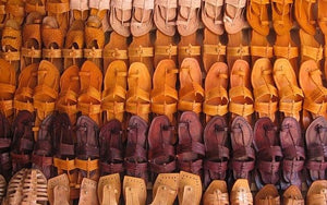 Fading footprint of Kolhapuri chappals