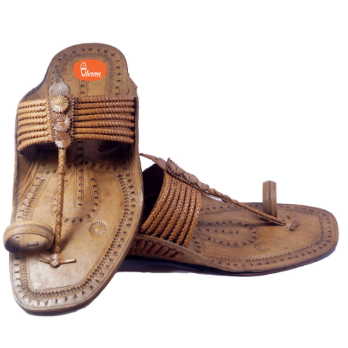 Moja Shape Mens Kolhapuri Chappal With Sound (Without Seeds)