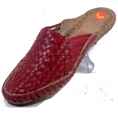 Sutra - Ladies Net Handmade leather footwear Red