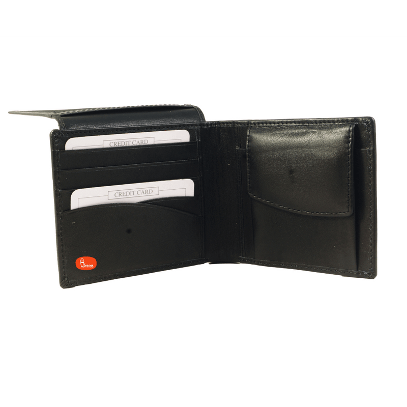 Black Color Bifold Pure Leather Wallet by Vhaan