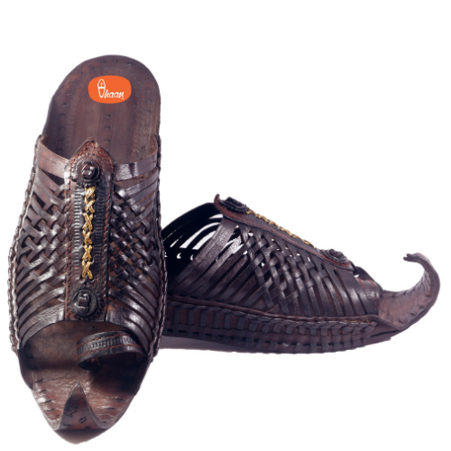 Handcrafted Special Royal Designed Maharaja Kolhapuri Chappal For Men With Unique Shape And Design
