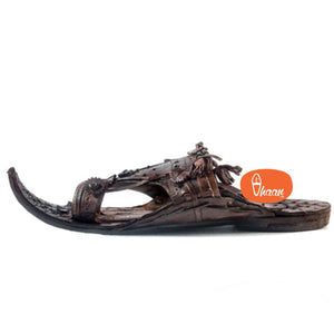 Royal Maharaja Prestigious Antique Designed Shahu Kolhapuri Chappal For Men