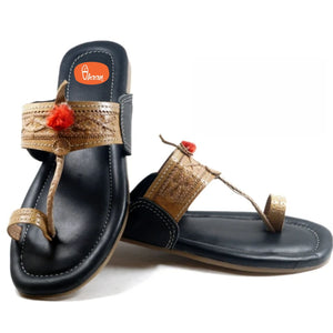 Ladies Anti Slippery Kolhapuri best Crafted Without Jari.-vhaanfootwear-6-vhaanfootwear