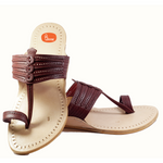 Maroon Color Kolhapuri Chappal For Men