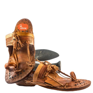Handmade Senapati/Aamdar Kapashi Kolhapuri Chappal for men With Royal Sound