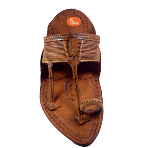 Paper Kapashi Kolahapuri chappal with Sound (Pure Flat Without Seed )