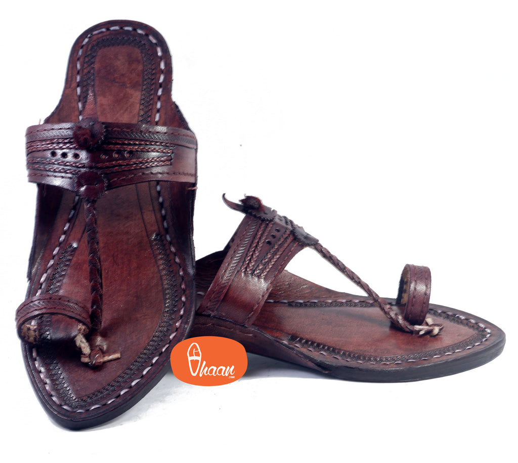 Lal Gonda Dark Brown Ladies Kolhapuri Chappal