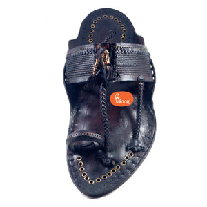 Khas Dark Brown Senapati Kapashi Kolhapuri chappal for men (With Sound)