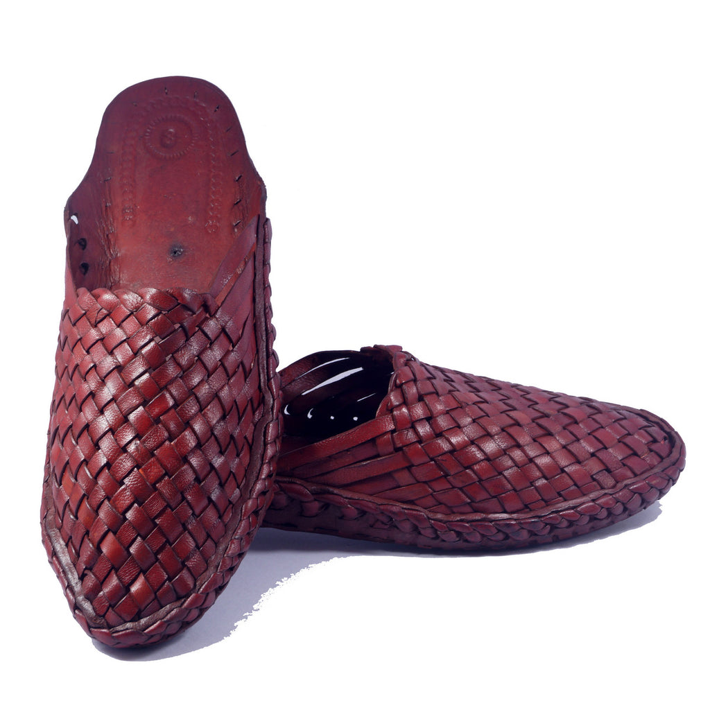 Red Color Slip on Gents kolhapuri chappal