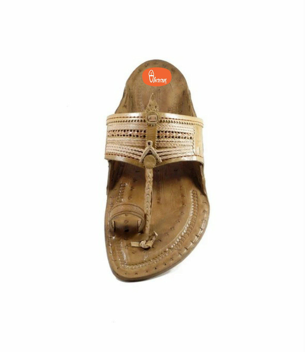 Specially handcrafted Senapati Kolhapuri chappal for  Men