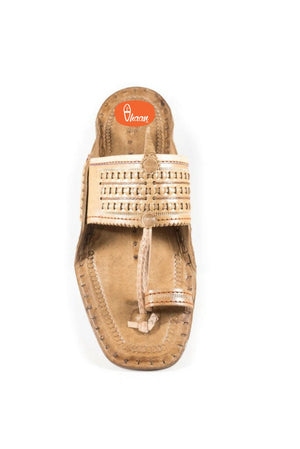 Special Moja(T) Shape Broad Kolahpuri Chappal For Men (Barabandi)