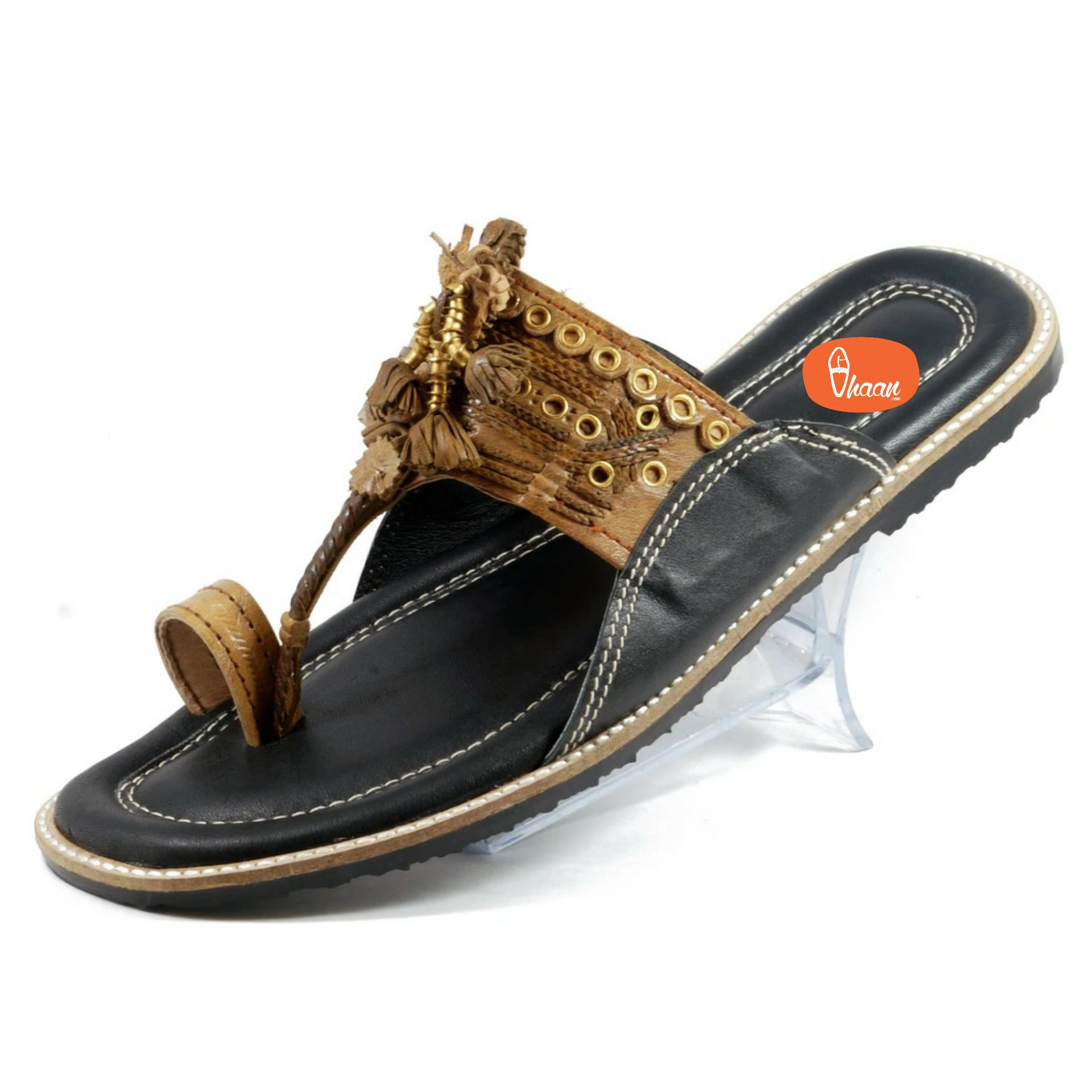 Pure leather  Cushioned Anti Slippery Assal kolhapuri chappal for men