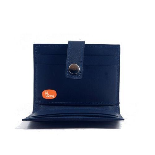 Pure Leather Card Holder (Blue Color)