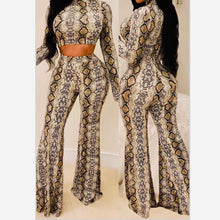 Load image into Gallery viewer, [Sexy_Flare_Leg_Snake_Print_Pant_Set] - The Carib Honey Collection