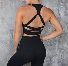 Rapid Wear Runway Sports Bra Black