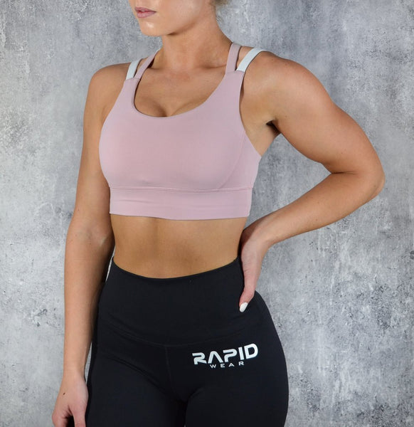 RapidWear - Ultimate Sports Bra (Pink/White)