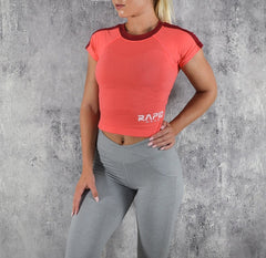Rapid Wear Crop T-shirt Pink