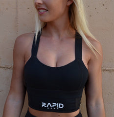 Rapid Wear High Impact Sports Bra Black
