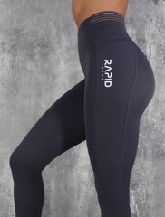 RapidWear - 7/8 Invisible Feel Leggings (Grå)