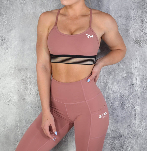 RapidWear - Energy Sports Bra (Dusty Pink)