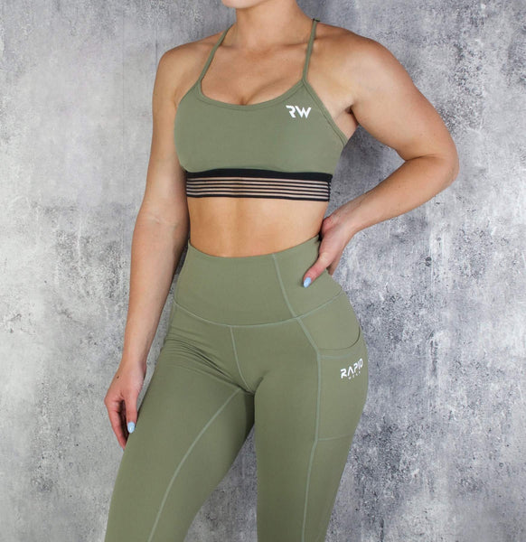 RapidWear - Energy Sports Bra (Olive)