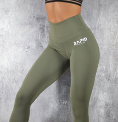 Rapid Wear High Impact Leggings Khaki Green