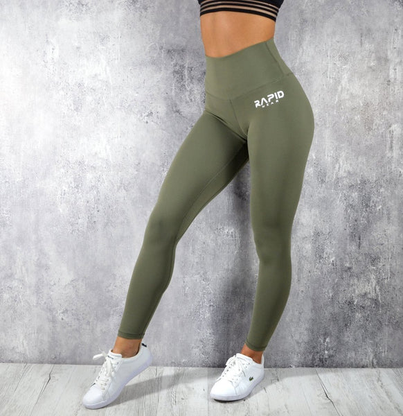 RapidWear - High Impact Leggings (Khaki Green)