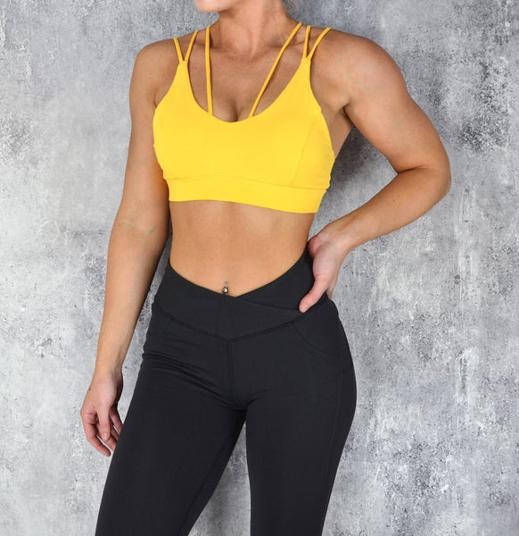 RapidWear - Knockout Sports Bra (Yellow)